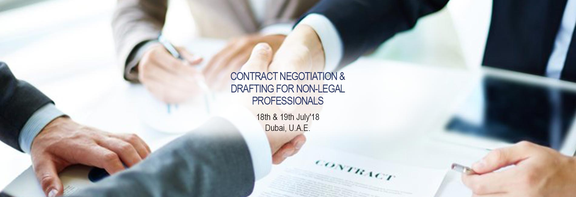 Contract Negotiation & Drafting for Non-Legal Professionals